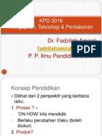 KPD 3016 - Kuliah 1