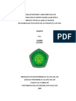 APLIKASI METODE CARD SORT DALAM MENINGKATKAN MOTIVASI BELAJAR SISWA BIDANG STUDI AL-QUR'AN HADITS DI MADRASAH TSANAWIYAH AN-NUR BULULAWANG
