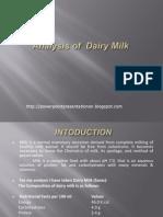 Analysis of Dairy Milk