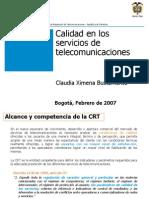 Calidad en Los Servicios de Telecomunicaciones - Feb07