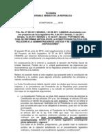 Objeciones Presidenciales a la Reforma a la Justicia [CONSTANCIA]