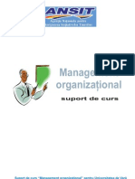 Managemanr Organizational - suport de curs