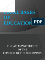 Legal Bases of Education