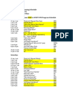 WUFT-FM 2012 Program Schedule