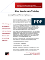 Unbundling Leadership Training