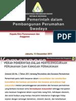 Peran Pemerintah dalam Perumahan Swadaya