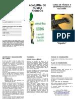 Curso de Técnica e Interpretación de Guitarra 2012
