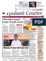 Front page Ypsilanti Courier June 28