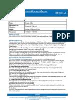 Ocha Humanitarian Futures Grant Programme Advertisement and Proposal Template Final