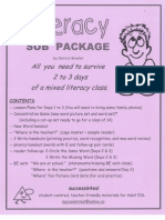 Literacy Sub Package