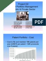 Patent Management Group Project NUS