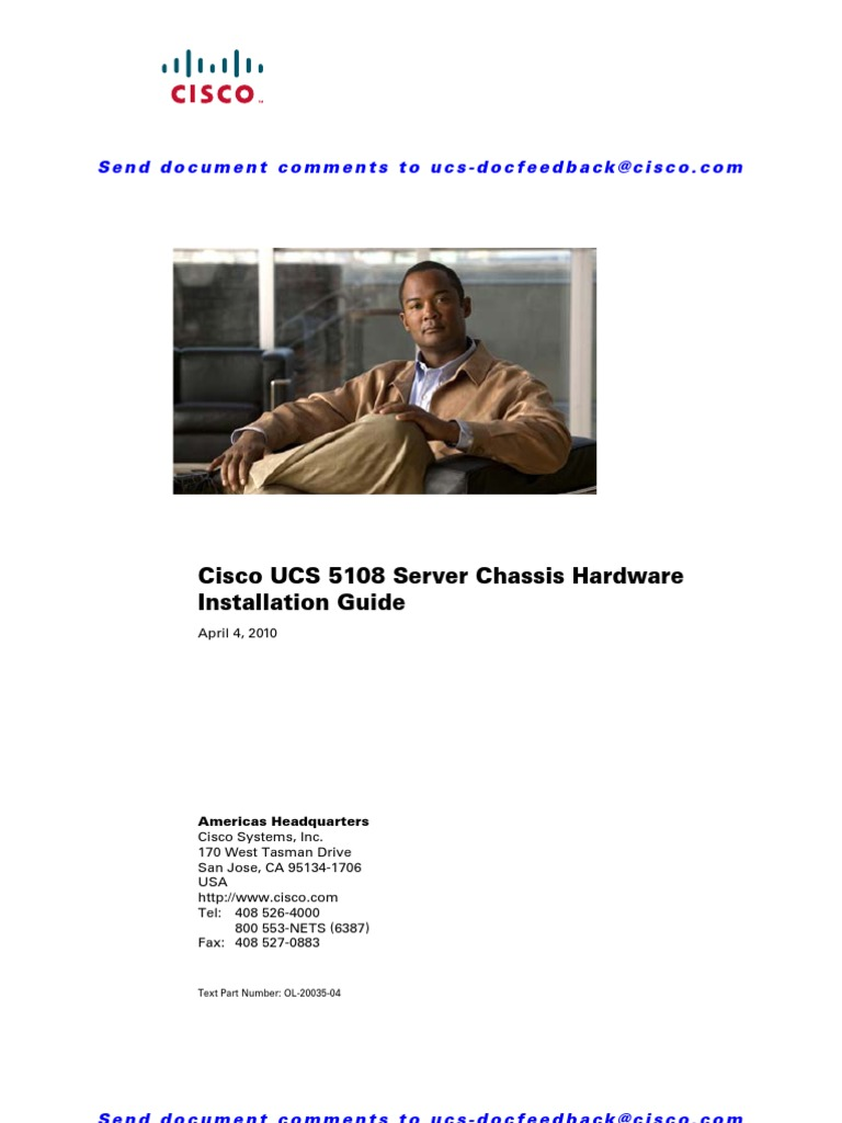 Cisco UCS 5108 Server Chassis Hardware Installation Guide | Network