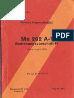 Me 262 a-1 Bedienvorschrift a-2