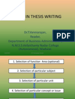 Steps in Thesis Writing