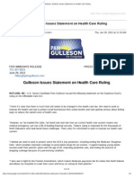 Gmail - Press Release_ Gulleson Issues Statement on Health Care Ruling