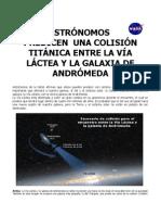 Semana Junio 28 Del 2012 Astronomon Predicen Uan Colision Titanica