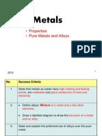 Metals & Alloys - 2012