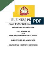 Fast Food Restaurant Business Plan