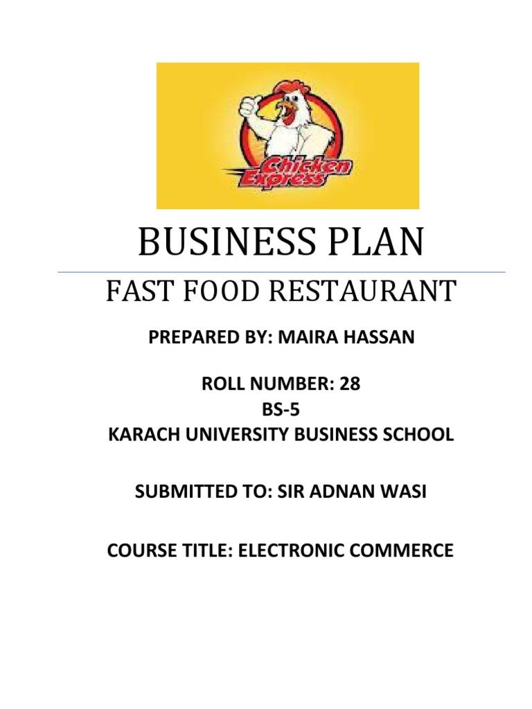 Fast food restaurant business plan fast food fast food restaurants wajeb Images