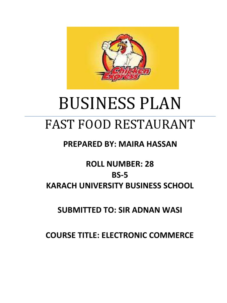 SAMPLE BUSINESS PLAN RESTAURANT  PPT