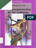 Geertz Clifford - La Interpretacion de Las Culturas