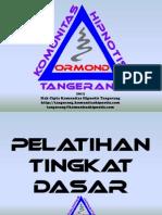 Modul Pelatihan Hipnosis Tingkat Dasar Oleh Komunitas Hipnotis Tangerang