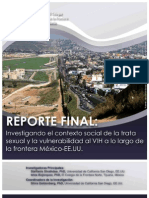 Investigando el contexto social de la trata sexual y la vulnerabilidad al VIH a lo largo de la frontera México-EE.UU