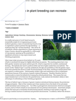 (Novel approach in plant breeding can recreate parental lines « Inspiring Science)