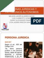 Personas Juridicas y Patrimonios Autonomos Exposicion