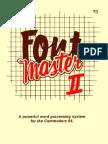 Fontmaster II User Manual
