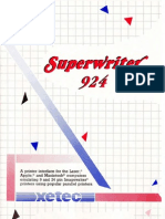 Superwriter 924 User Manual