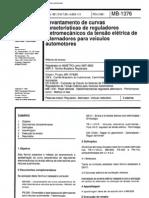 NBR 6605 MB 1376 - Levantamento de Curvas Caracteristicas de Reguladores Eletromecanicos Da Tensao Eletrica de Alternador Para Veiculo Automotor