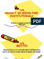 Proiect de Dezvoltare Institutionala 2009-2014