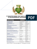 77 Equator Banks Environmental Sustainability