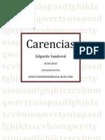 Carencias - Edgardo Sandoval