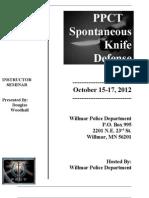 PPCT Spontaneous Knife Defense Brochure