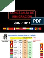 Resumen de actuaciones de la Concejalía de Inmigración de Coslada 2007-2011