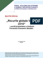 Buletin Special Studiu WEF Global Risks 2010