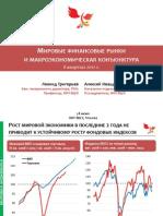 Мировые финансовые рынки и макроэкономическая конъюнктура