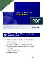 Michelin 2011 Annual Results Presentation