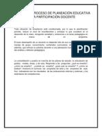 ETAPAS DEL PROCESO DE PLANEACIÓN EDUCATIVA