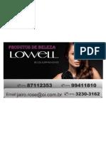 lowell cartão visita