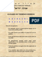 Glosario de términos hebreos