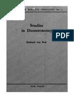 Studies in Deuteronomy Gerhard Von Rad