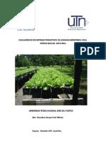 Evaluación de estructuras de producción  Hidroponica / ALUNASA, Costa Rica