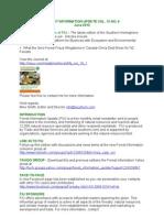 Forest Information Update Vol 13 No 6