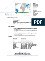 PETROLEUM GENERAL PROCEDURES AND PRODUCTS
