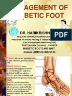 Dr Harikrishna - Management of Diabetic Foot