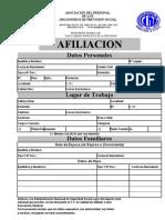 Ficha Afiliacion