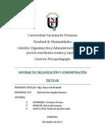 ORGANIZACIÓN Y ADMINISTRACIÓN ESCOLAR PARA LA ENSEÑANZA COMÚN Y ESPECIAL